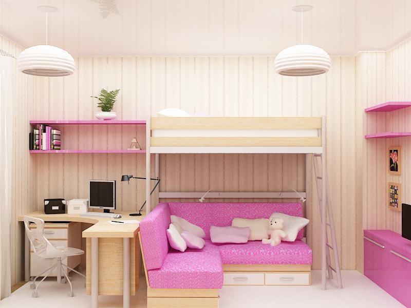 Кровать боровичи двухъярусная с диваном в  Москве